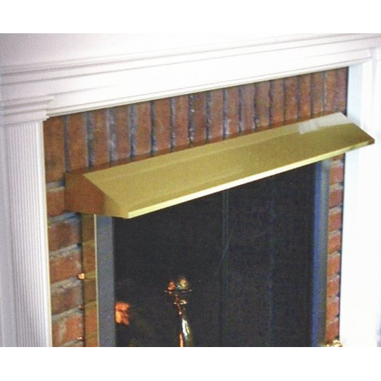Fireplace hoods aren't limited in size, and they aren't limited in finish options either!