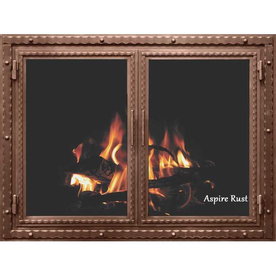 Aspire Rust Finish Denali Fireplace Door