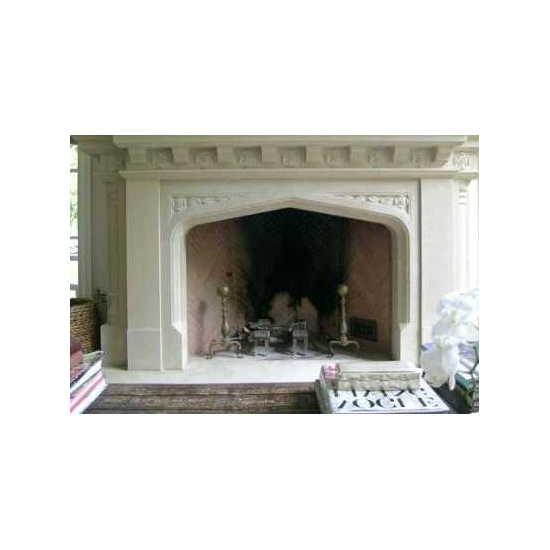 Masonry Gothic Arch Fireplace Door