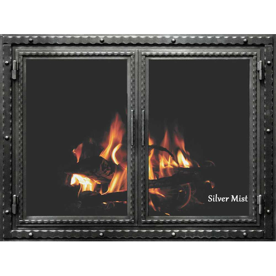 Silver Mist Finish Denali Fireplace Door