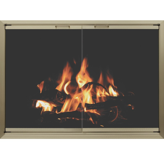 4 sided overlap fit Huntress prefab fireplace door
