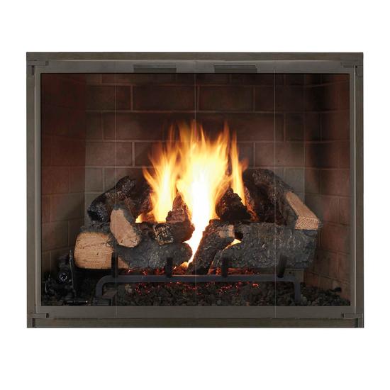 Essex Prefab Fireplace Door in Matte Black