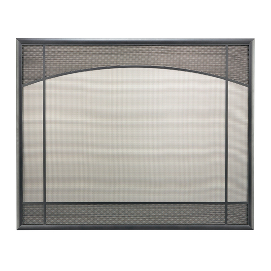 Basic Design Direct Vent Screen With Window Pane in Classic Bronze