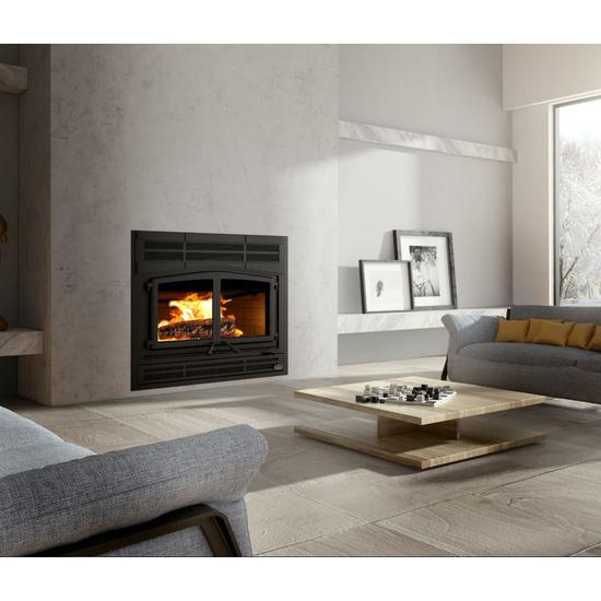 Osburn Horizon Wood Burning Fireplace Alternate Angle Room Setting