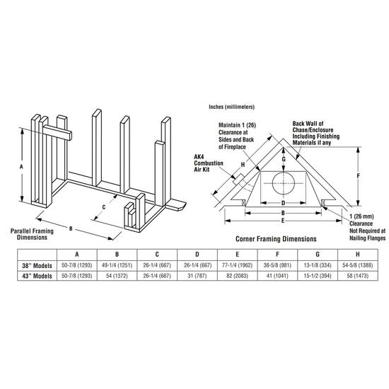 Superior WRT3538 Framing Dimensions