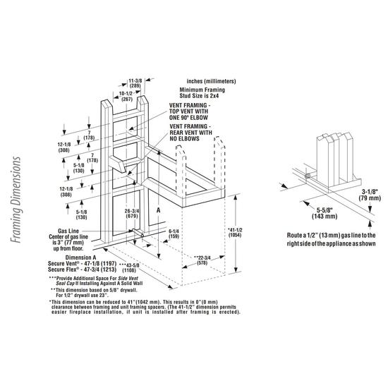 DRT40PF Framing Dimensions