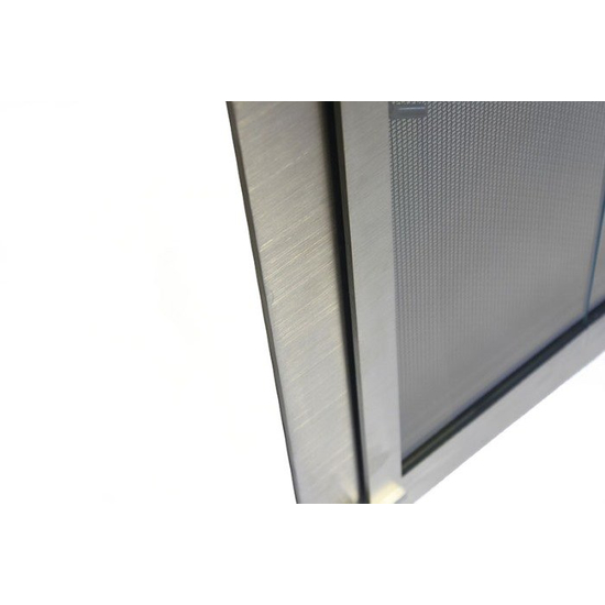 Brushed Stainless Steel lower left corner detail