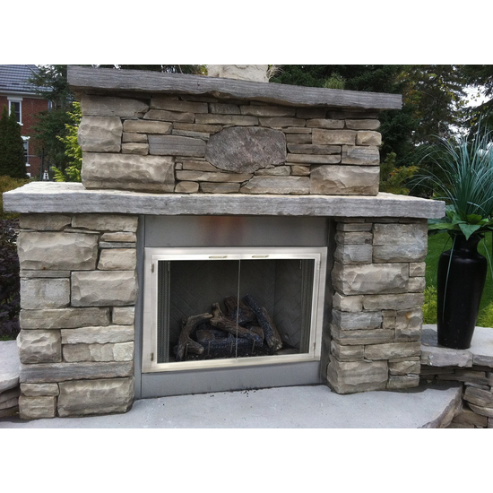 Stainless Steel Masonry Fireplace Door for outdoor fireplaces can be installed inside or outdoors!