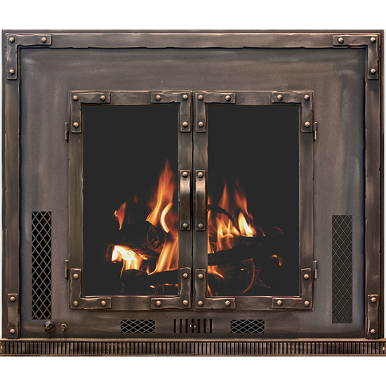 Chesapeake Wood Fireplace Insert with Blower and Ceramic Glass