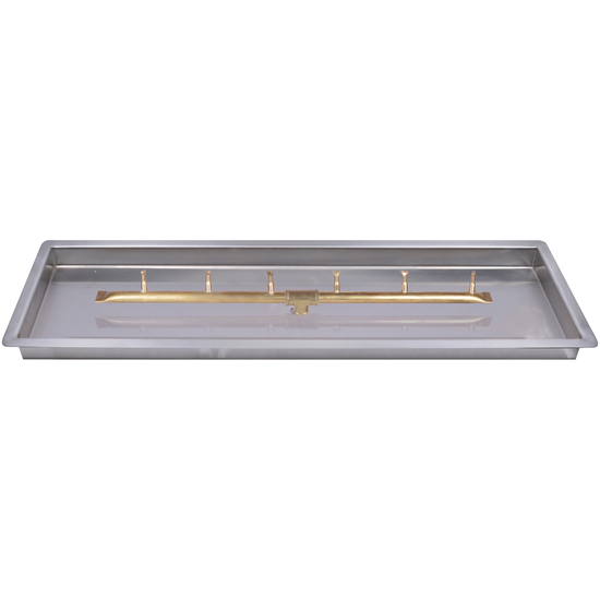 "60"" x 8"" Rectangular Drop In Pan and 48"" Bullet Burner"