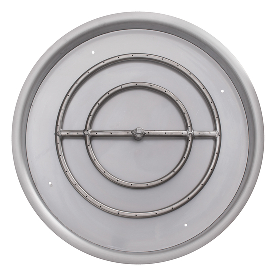 """25"""" Round Drop In Stainless Steel Pan And 18"""" Round Burner Ring"""