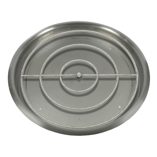 """43"""" Round Drop In Stainless Steel Pan And 36"""" Round Burner Ring"""