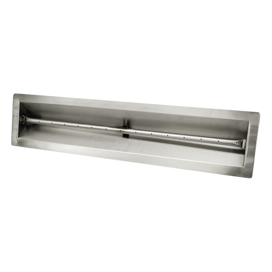 "96"" V-Trough Stainless Steel Pan And 96"" Linear Burner"