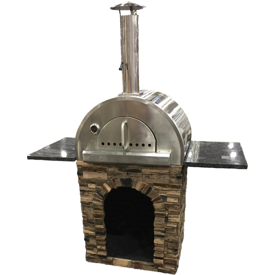Pizza Oven Stand Alone with Shelves