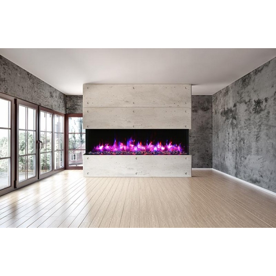"""Installed 40"""" Tru View XL Electric Indoor Fireplace"""