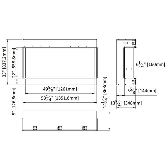 Tru-View XT XL 50 Inch Spec Diagram