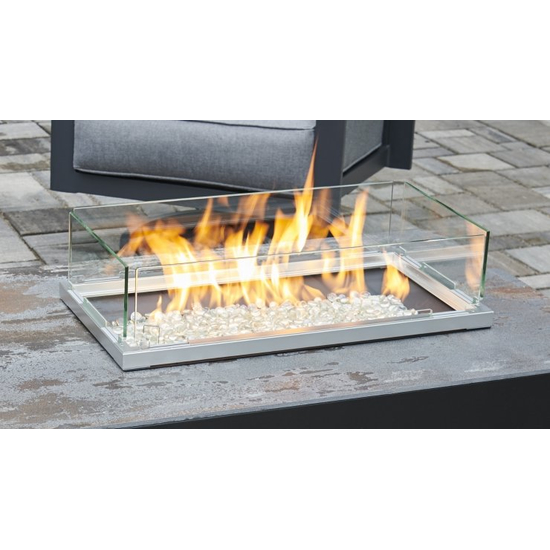 Stone Grey With White Base Havenwood Gas Fire Pit Table