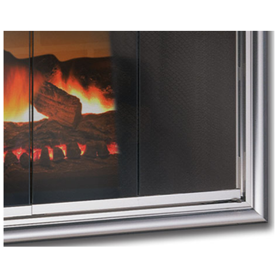 Phoenix Prefab Fireplace Door bottom right corner detail