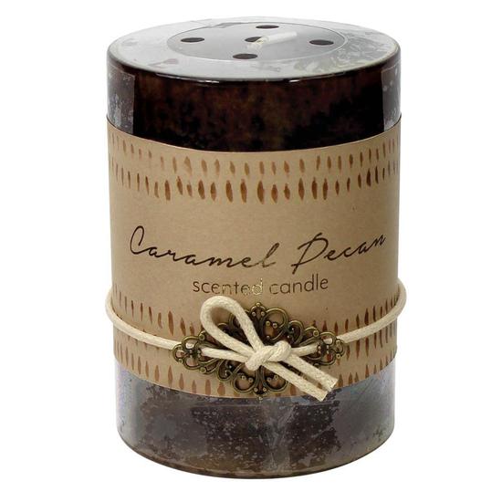 Caramel Pecan Pillar Candle 3X4