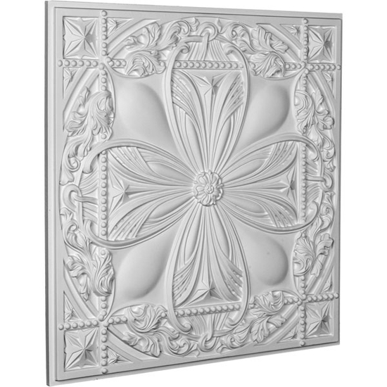 """24"""" Cole Urethane Ceiling Tile Angle View"""