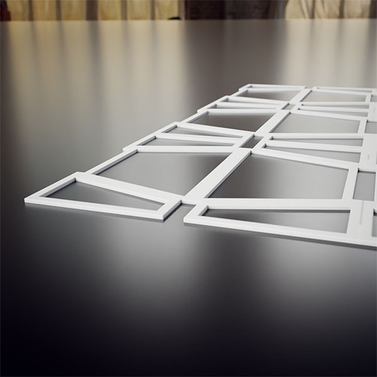 Greeley Decorative Fretwork PVC Wall Panels Thickness View