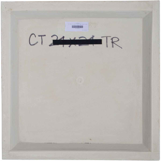"""24"""" Traditional Urethane Ceiling Tile Rear View"""