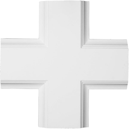 Inner Cross Intersection for 8 inch Traditional Coffered Ceiling