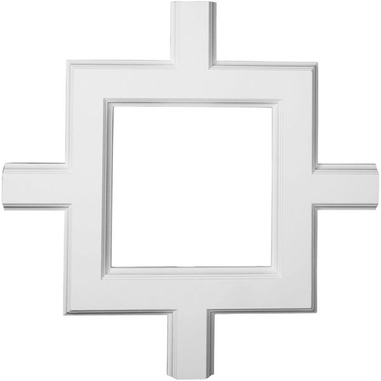 Inner Square Intersection for 5 inch Traditional Coffered Ceiling