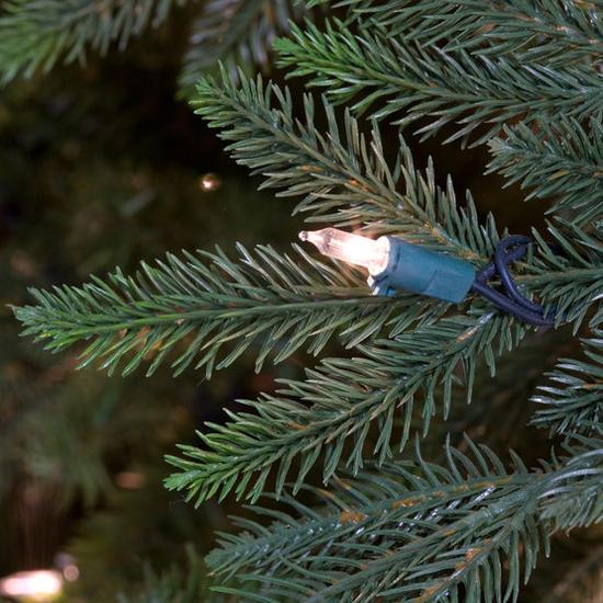 "2-6.5""H Full 54""W Carolina Fir Prelit Tree Warm White LED 700"