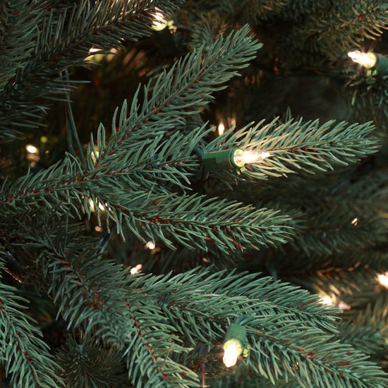 """2-6.5""""H Full 54""""W Noble Fir Prelit Tree Warm White LED 600"""