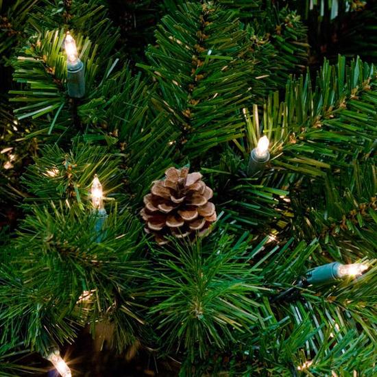 "2-7.5""H Slender 48""W Winchester Fir Prelit Tree Warm White LED 750"