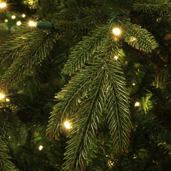 """2-12""""H Full 72""""W Fraser Fir Prelit Christmas Tree Warm White LED 2,000"""