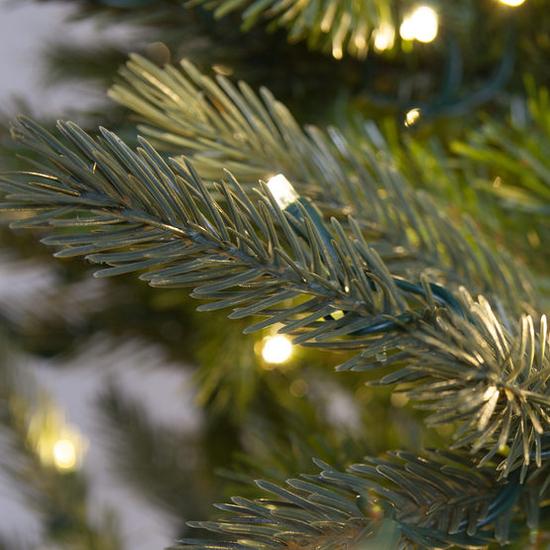 """3-7.5""""H Full 55""""W Balsam Fir Prelit Tree Warm White LED 750"""