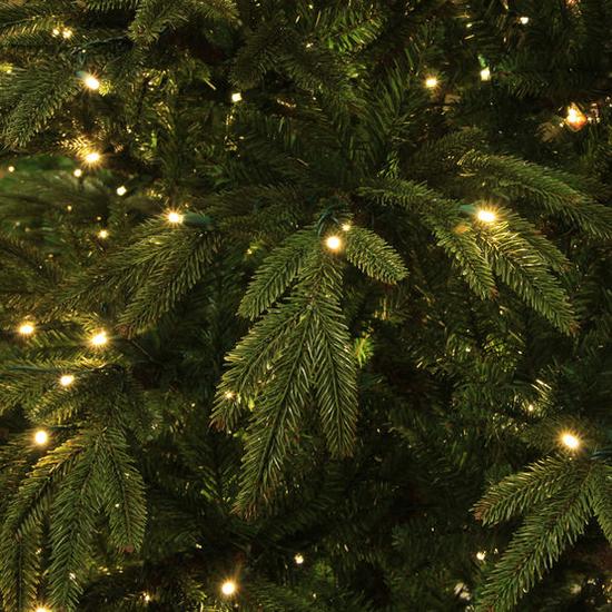 """3-12""""H Full 72""""W Fraser Fir Prelit Christmas Tree Warm White LED 2,000"""