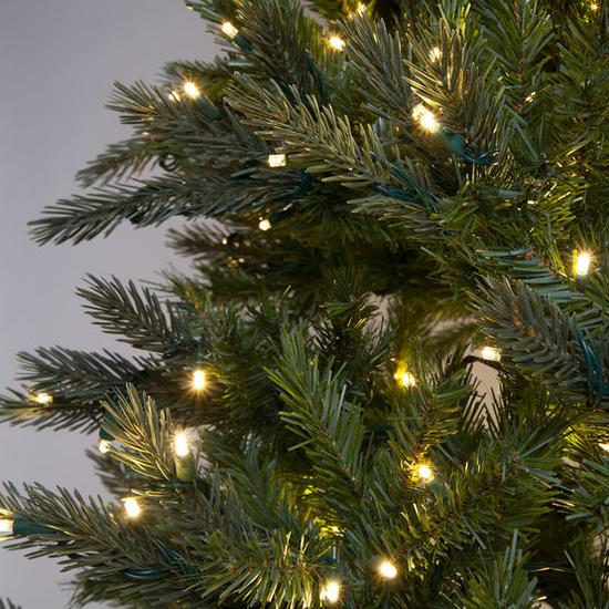 """4-7.5""""H Full 55""""W Balsam Fir Prelit Tree Warm White LED 750"""