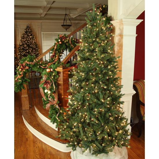 """5-7.5""""H Full 55""""W Balsam Fir Prelit Tree Warm White LED 750"""