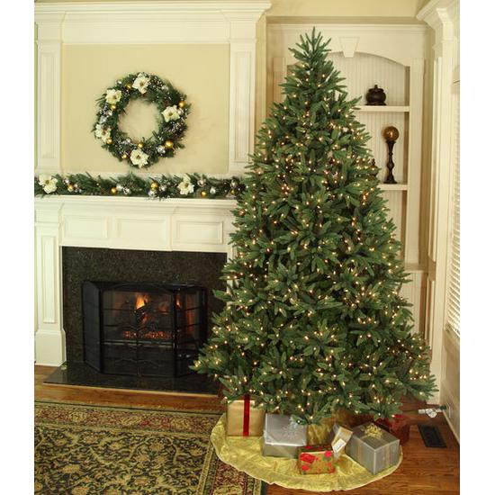 """5-6.5""""H Full 54""""W Noble Fir Prelit Tree Warm White LED 600"""