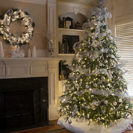 """7-6.5""""H Full 54""""W Noble Fir Prelit Tree Warm White LED 600"""