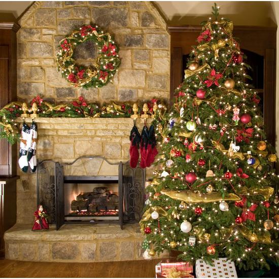 """7-12""""H Full 72""""W Fraser Fir Prelit Christmas Tree Warm White LED 2,000"""