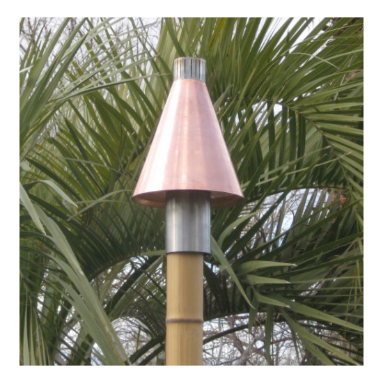Copper cone automated tiki torch kit