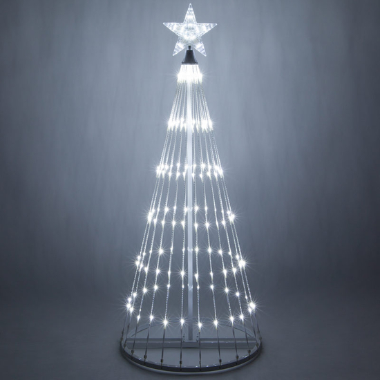 Animated Outdoor Cool White LED Lightshow Tree