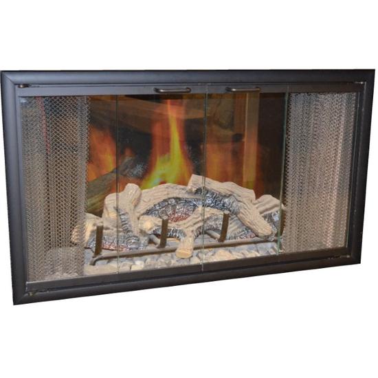 WC36 Matte Black Majestic Fireplace Door