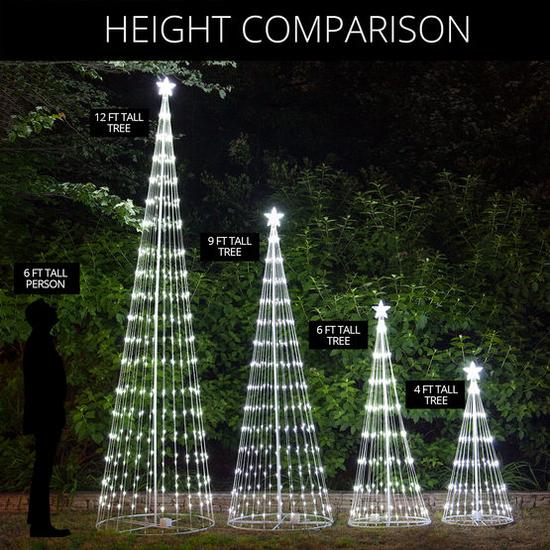 Light Show Tree Size Comparison