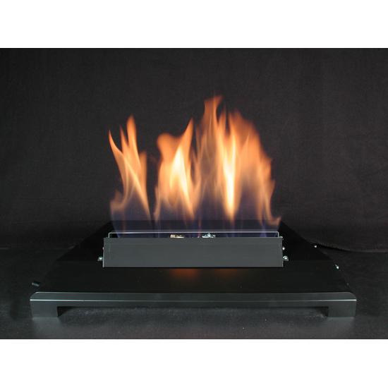 24 Inch ALTERNA FireGlitter Set with Vent Free Black Burner