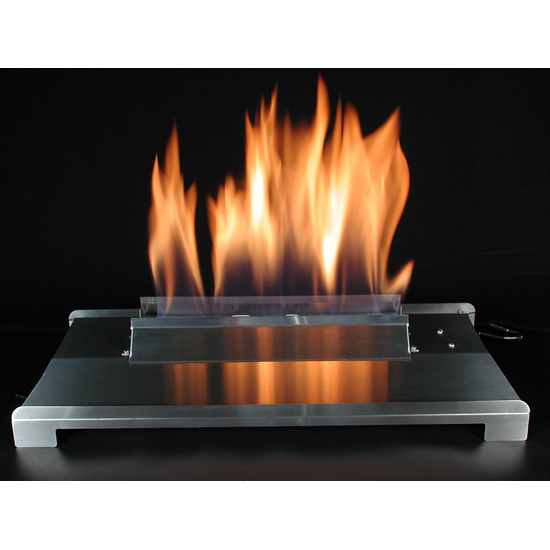24 Inch ALTERNA FireGlitter Set with Vent Free Stainless Steel Burner
