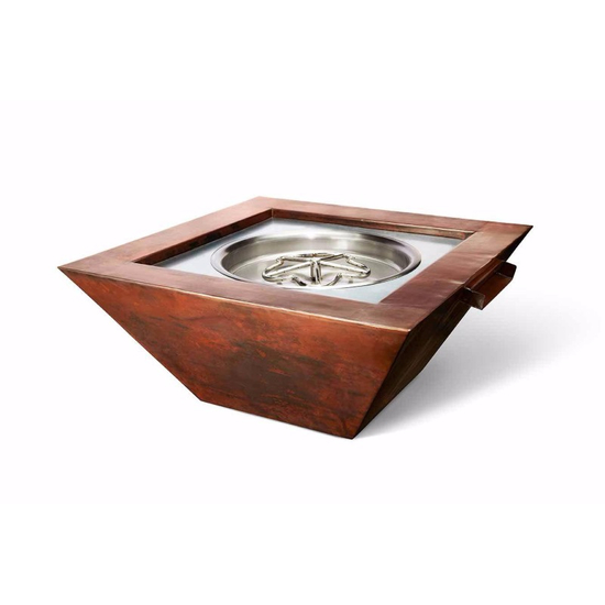 36 Inch Square Sierra Copper Fire and Water Bowl Electronic Ignition 12VAC