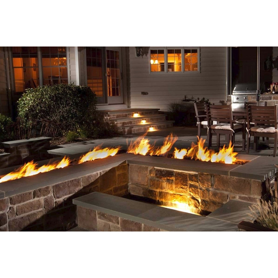 Trough Match Light Fire Pit Insert