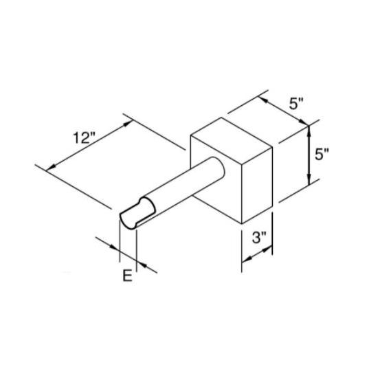 Cannon Scupper Dimensions