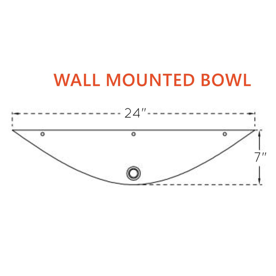 Wall Mounted Copper Bowl Specs