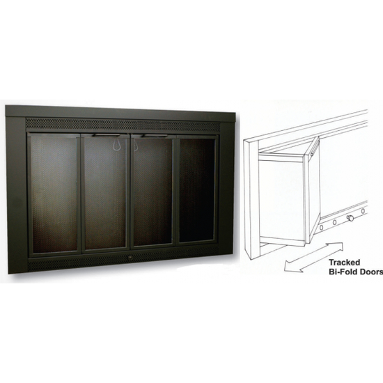 Sentry Traditional With Tracked Doors in flat black